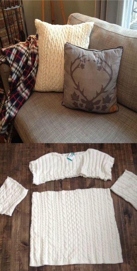 Sweater Pillows DIY 30 Minute Craft Video Instructions